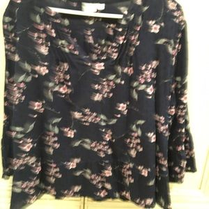 Navy blouse with flowers from The GAP L